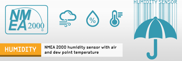 Yacht Devices Humidity and Temperature NMEA2000 sensors